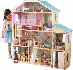 Barbie Size Doll House Playhouse Dream Girls Play Wooden Dol