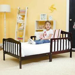 Baby Toddler Bed Solid Wood Bedroom Furniture with Safety Ra