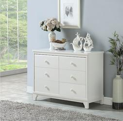 Chest Of Drawers Nursery Baby Bedroom Clothes Storage Double