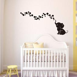 Elephant Blowing Floating Bubbles Wall Decal Baby Room Nurse