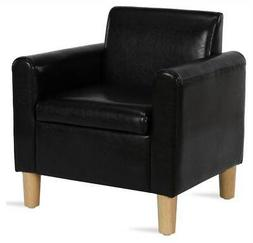 Baby Relax Kids Arm Chair in Black Faux Leather