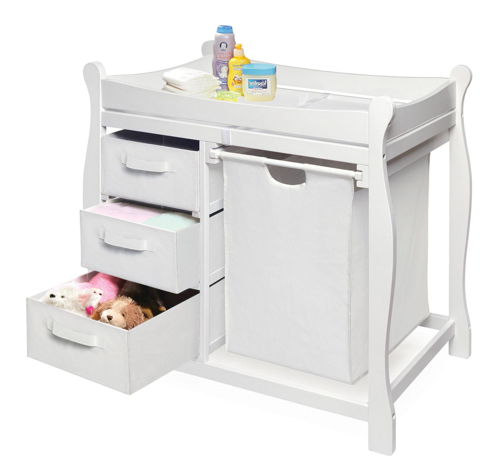 Baby Diaper Table w/ Drawers Nursery Furniture