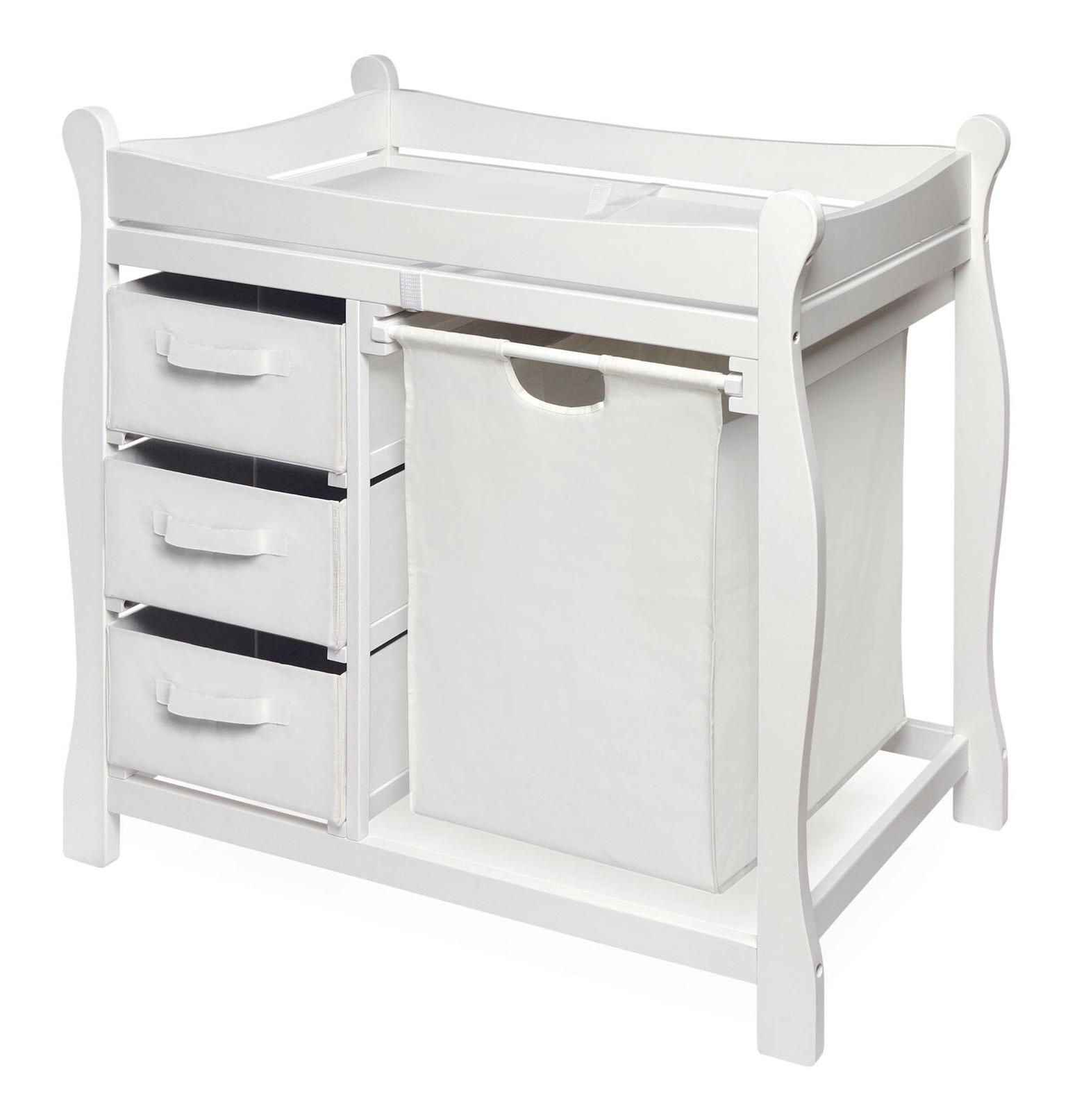 baby diaper changing table w hamper 3