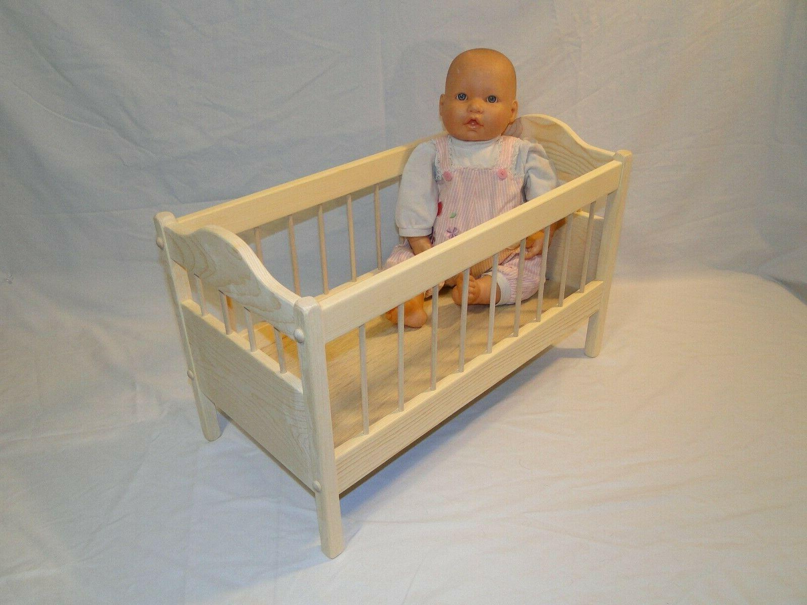 Baby Doll Crib up to 18 inch size wood with mineral oil