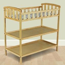 Natural Finish Wood Baby Furniture Changing Table with Safet