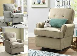 Swivel Glider Chair Nursery Baby Relax Gliding Chairs Living